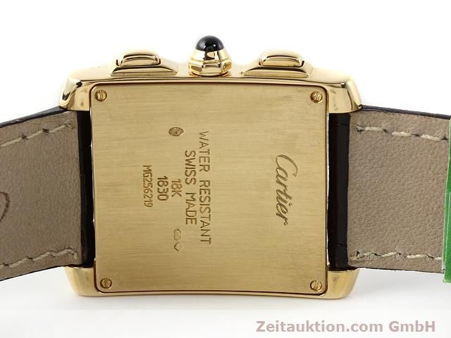 Used luxury watch Cartier Tank chronograph 18 ct gold quartz Kal. 212P VINTAGE  | 141187 09