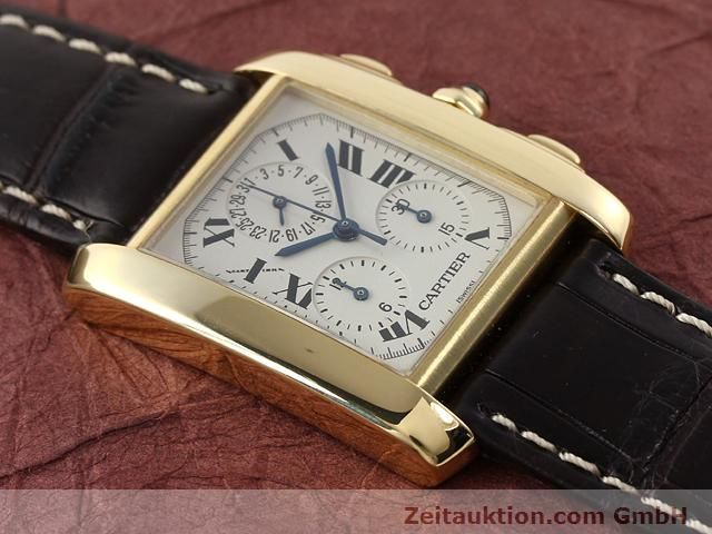 Used luxury watch Cartier Tank chronograph 18 ct gold quartz Kal. 212P VINTAGE  | 141187 13