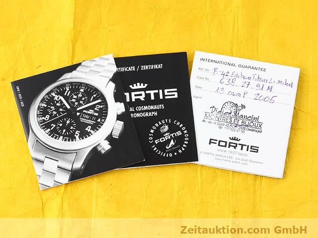 Used luxury watch Fortis B42 titanium automatic Kal. ETA 7750 Ref. 638.27.141  | 141191 08