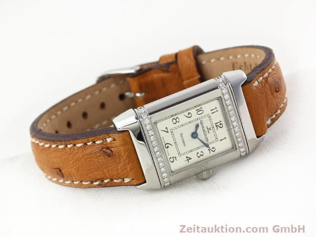 Used luxury watch Jaeger Le Coultre Reverso steel quartz Kal. 608 Ref. 265.8.08  | 141201 03