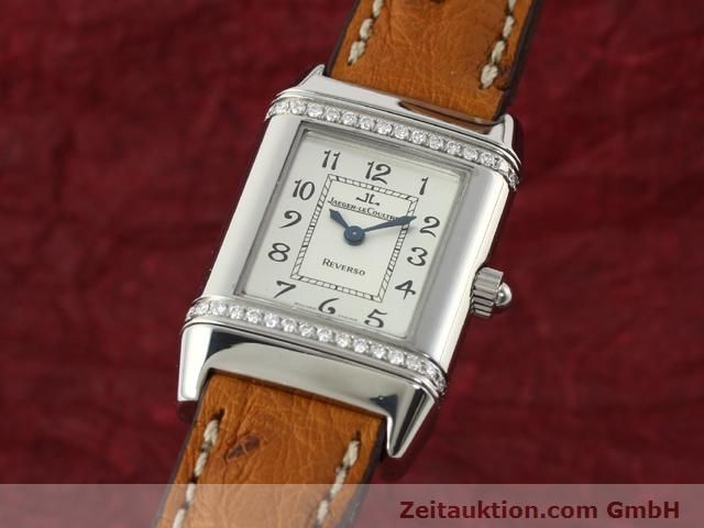 Used luxury watch Jaeger Le Coultre Reverso steel quartz Kal. 608 Ref. 265.8.08  | 141201 04