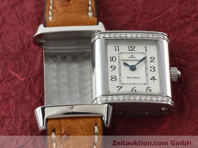 Used luxury watch Jaeger Le Coultre Reverso steel quartz Kal. 608 Ref. 265.8.08  | 141201 11