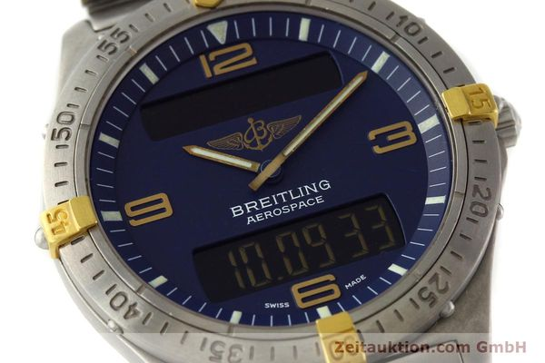 Used luxury watch Breitling Aerospace chronograph titanium / gold quartz Kal. B56 Ref. F56062  | 141205 02