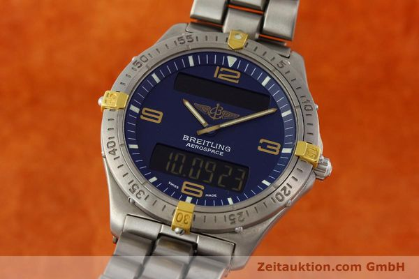 Used luxury watch Breitling Aerospace chronograph titanium / gold quartz Kal. B56 Ref. F56062  | 141205 04