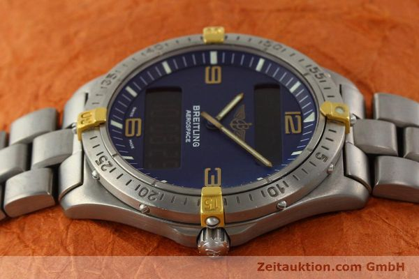 Used luxury watch Breitling Aerospace chronograph titanium / gold quartz Kal. B56 Ref. F56062  | 141205 05