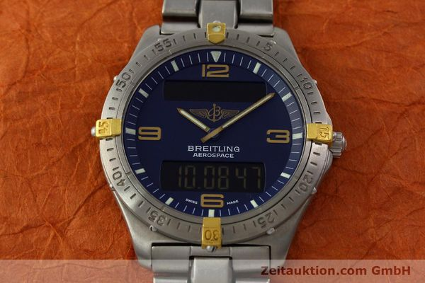 Used luxury watch Breitling Aerospace chronograph titanium / gold quartz Kal. B56 Ref. F56062  | 141205 17