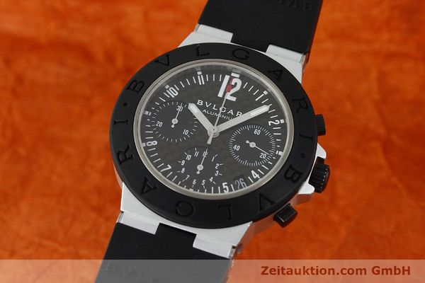 Used luxury watch Bvlgari Diagono chronograph aluminium automatic Kal. TEEE 080 Ref. AC38TA  | 141216 04