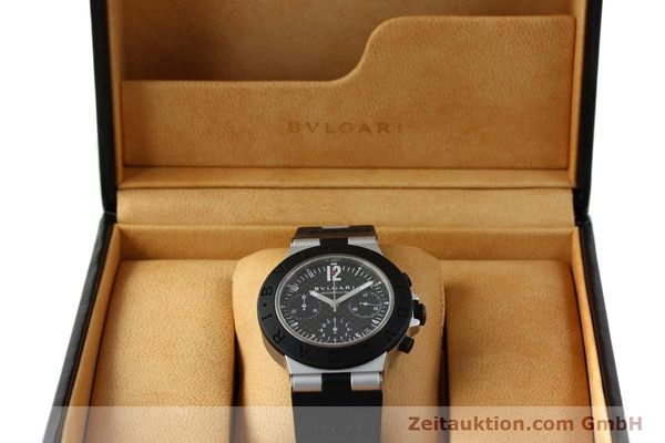 Used luxury watch Bvlgari Diagono chronograph aluminium automatic Kal. TEEE 080 Ref. AC38TA  | 141216 07