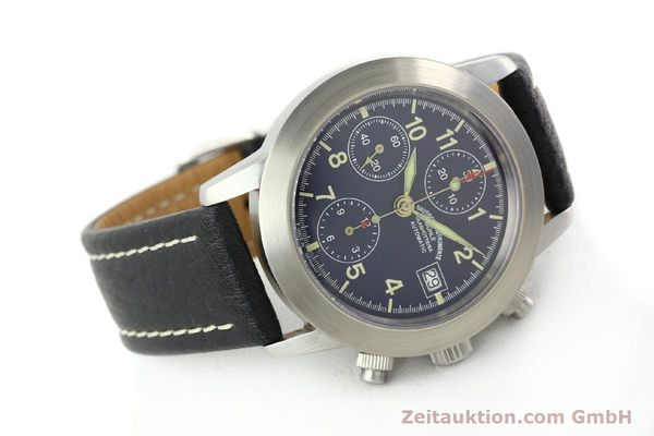 Used luxury watch Mühle Sport Chronograph chronograph steel automatic Kal. ETA 7750 Ref. M12300  | 141220 03