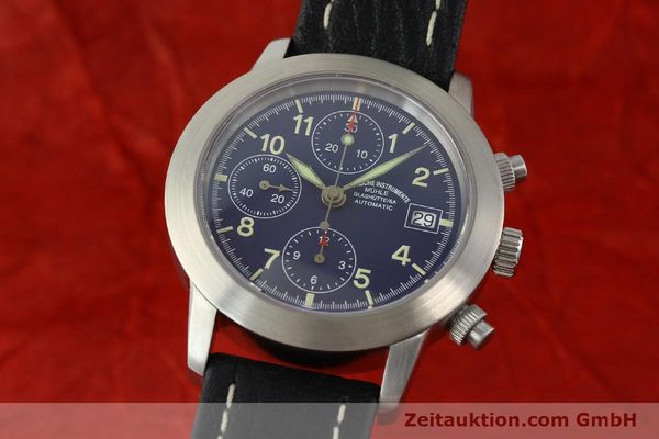 Used luxury watch Mühle Sport Chronograph chronograph steel automatic Kal. ETA 7750 Ref. M12300  | 141220 04