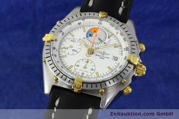 Used luxury watch Breitling Chronomat chronograph steel / gold automatic Kal. B13 VAL 7750 Ref. 81.950B1347  | 141222 04