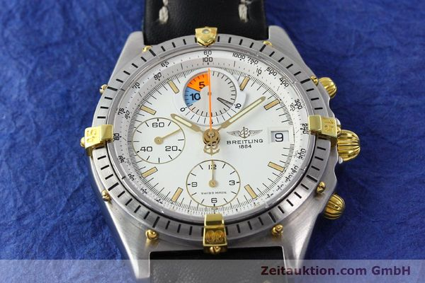Used luxury watch Breitling Chronomat chronograph steel / gold automatic Kal. B13 VAL 7750 Ref. 81.950B1347  | 141222 13