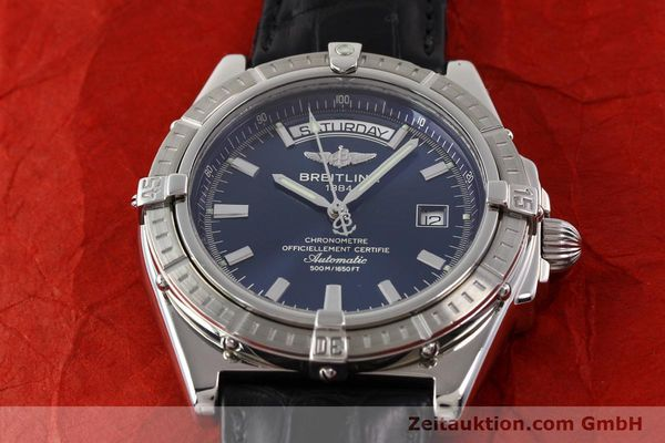 Used luxury watch Breitling Windrider steel automatic Kal. B45 ETA 2834-2 Ref. A45355  | 141226 15