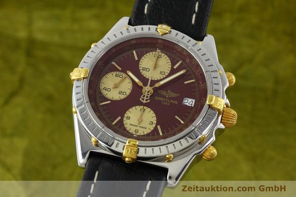 Used luxury watch Breitling Chronomat chronograph steel / gold automatic Kal. B13 ETA 7750 Ref. B13050.1  | 141230 04