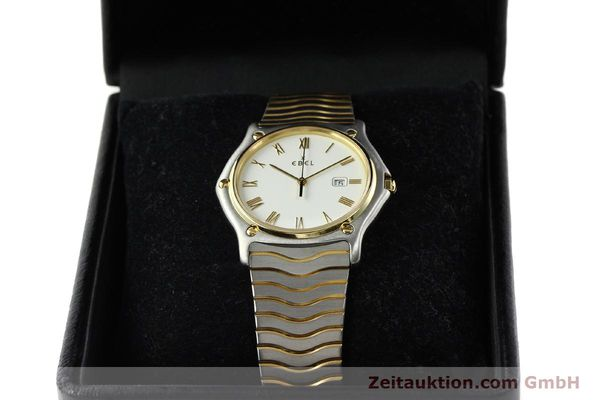 Used luxury watch Ebel Classic Wave steel / gold quartz Kal. 83 Ref. 183903  | 141234 07
