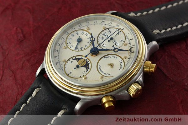 Used luxury watch Maurice Lacroix Phase de Lune  chronograph steel / gold automatic Kal. VAL 7751 Ref. 02336  | 141240 01