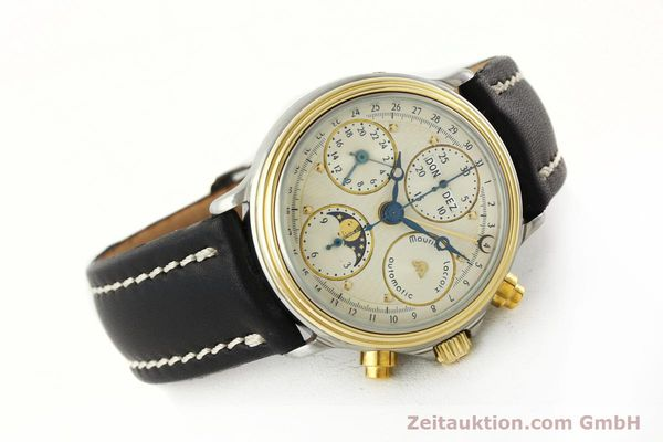 Used luxury watch Maurice Lacroix Phase de Lune  chronograph steel / gold automatic Kal. VAL 7751 Ref. 02336  | 141240 03
