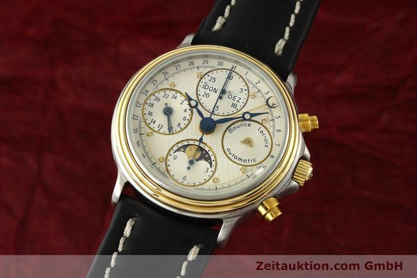 Used luxury watch Maurice Lacroix Phase de Lune  chronograph steel / gold automatic Kal. VAL 7751 Ref. 02336  | 141240 04