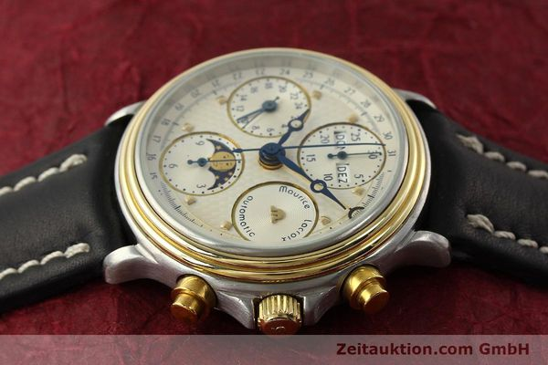 Used luxury watch Maurice Lacroix Phase de Lune  chronograph steel / gold automatic Kal. VAL 7751 Ref. 02336  | 141240 05