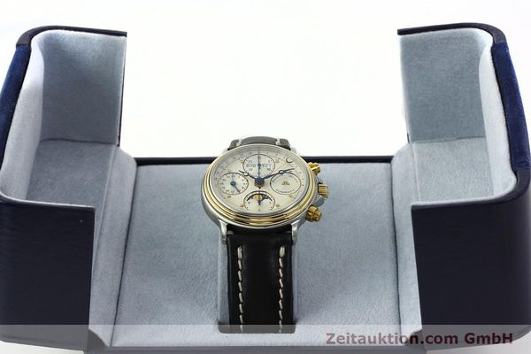 Used luxury watch Maurice Lacroix Phase de Lune  chronograph steel / gold automatic Kal. VAL 7751 Ref. 02336  | 141240 07