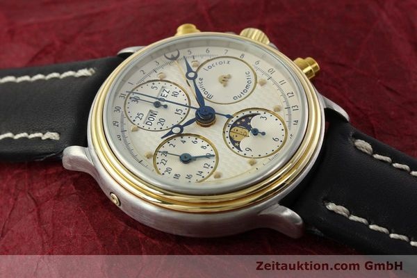 Used luxury watch Maurice Lacroix Phase de Lune  chronograph steel / gold automatic Kal. VAL 7751 Ref. 02336  | 141240 12