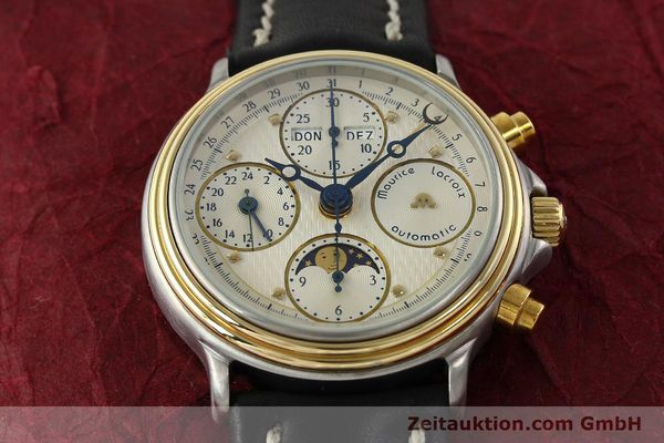 Used luxury watch Maurice Lacroix Phase de Lune  chronograph steel / gold automatic Kal. VAL 7751 Ref. 02336  | 141240 13