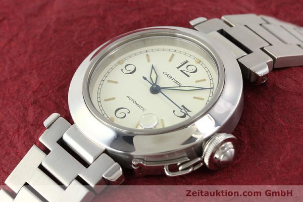 Used luxury watch Cartier Pasha steel automatic  | 141241 01