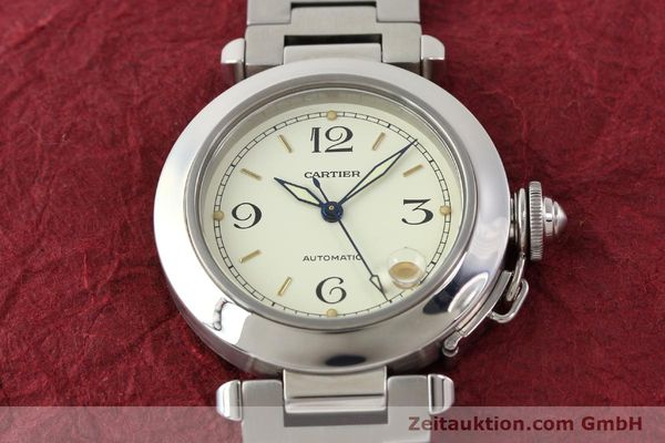 Used luxury watch Cartier Pasha steel automatic  | 141241 15