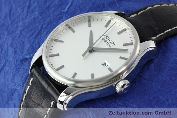 Used luxury watch Union Glashütte Viro steel automatic Kal. U2892A2 Ref. D001.407A  | 141242 01