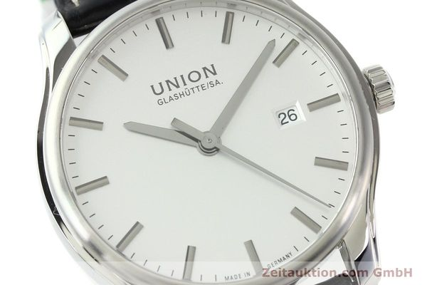 Used luxury watch Union Glashütte Viro steel automatic Kal. U2892A2 Ref. D001.407A  | 141242 02