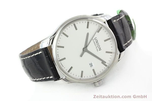 Used luxury watch Union Glashütte Viro steel automatic Kal. U2892A2 Ref. D001.407A  | 141242 03