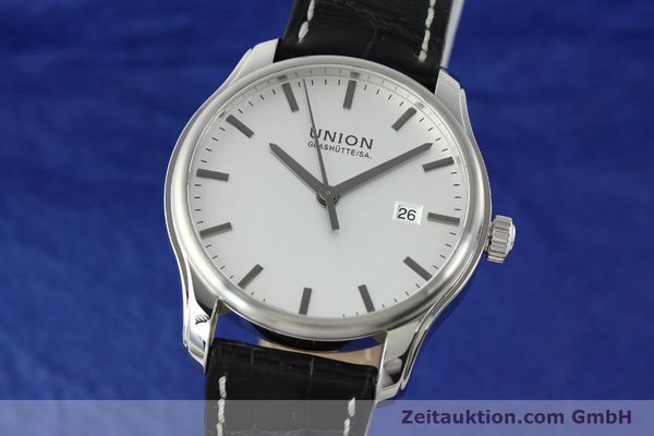 Used luxury watch Union Glashütte Viro steel automatic Kal. U2892A2 Ref. D001.407A  | 141242 04