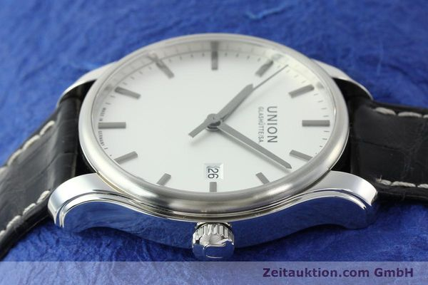 Used luxury watch Union Glashütte Viro steel automatic Kal. U2892A2 Ref. D001.407A  | 141242 05