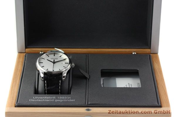 Used luxury watch Union Glashütte Viro steel automatic Kal. U2892A2 Ref. D001.407A  | 141242 07