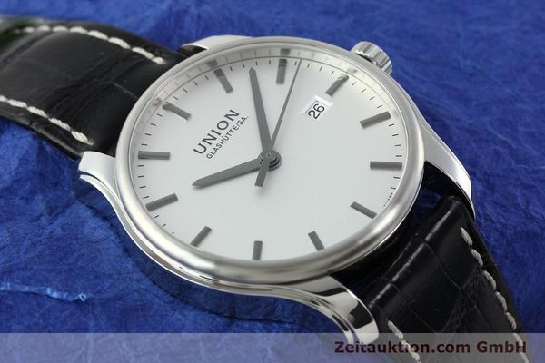 Used luxury watch Union Glashütte Viro steel automatic Kal. U2892A2 Ref. D001.407A  | 141242 15