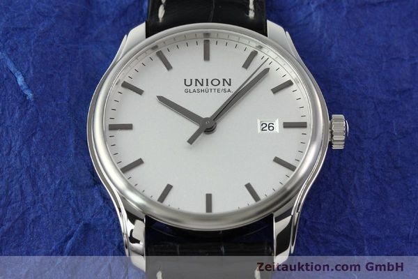 Used luxury watch Union Glashütte Viro steel automatic Kal. U2892A2 Ref. D001.407A  | 141242 16
