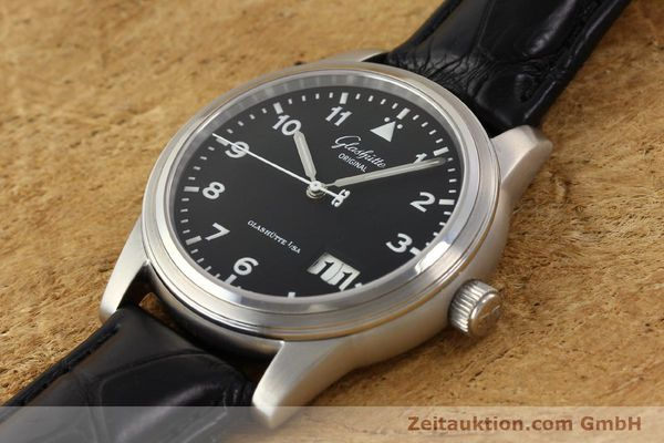 Used luxury watch Glashütte Senator steel automatic Kal. 38-42  | 141243 01