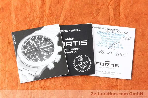 Used luxury watch Fortis B42 steel automatic Kal. ETA 7750 Ref. 638.10.141  | 141245 08