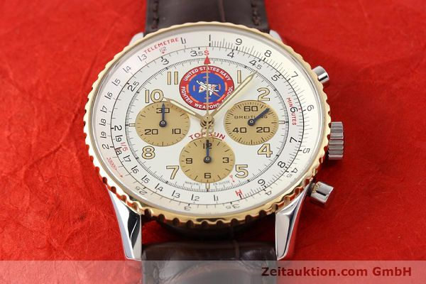Used luxury watch Breitling Navitimer steel / gold automatic Kal. ETA 2892A2 Ref. D30022  | 141254 14