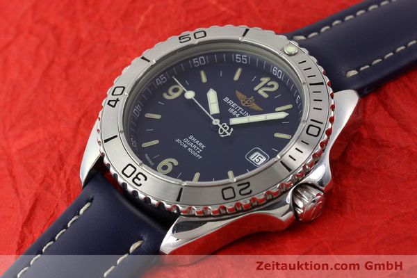 Used luxury watch Breitling Shark steel quartz Kal. B58 ETA 955112 Ref. A58605  | 141266 01