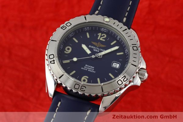 Used luxury watch Breitling Shark steel quartz Kal. B58 ETA 955112 Ref. A58605  | 141266 04