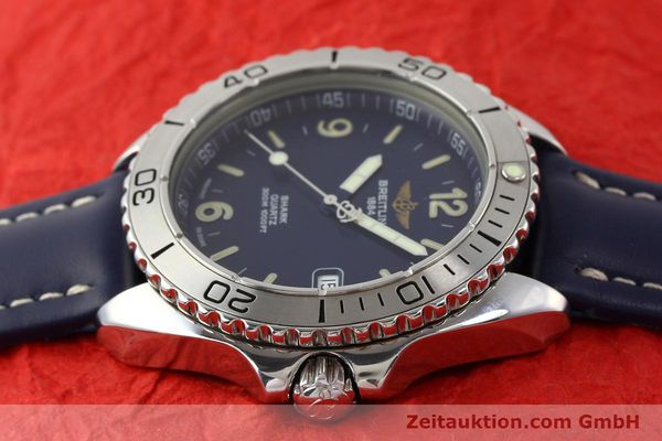 Used luxury watch Breitling Shark steel quartz Kal. B58 ETA 955112 Ref. A58605  | 141266 05