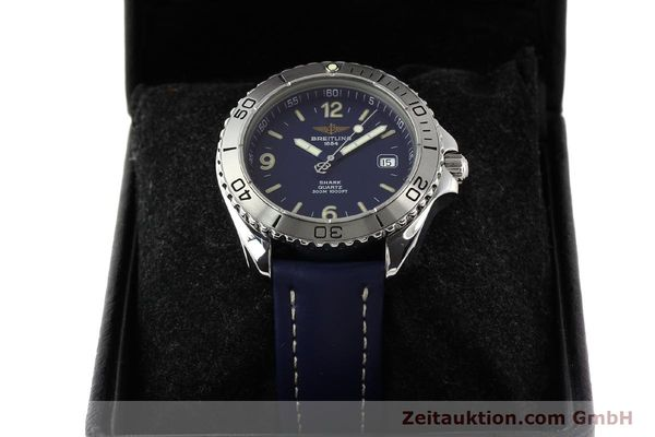 Used luxury watch Breitling Shark steel quartz Kal. B58 ETA 955112 Ref. A58605  | 141266 07