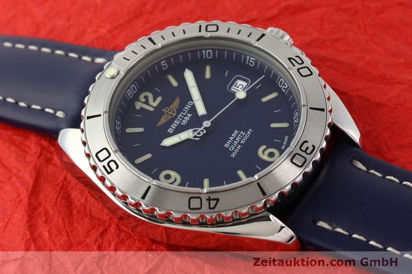 Used luxury watch Breitling Shark steel quartz Kal. B58 ETA 955112 Ref. A58605  | 141266 12