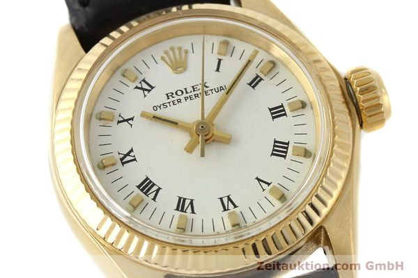 Used luxury watch Rolex Oyster Perpetual 18 ct gold automatic Kal. 1161 Ref. 6619  | 141270 02
