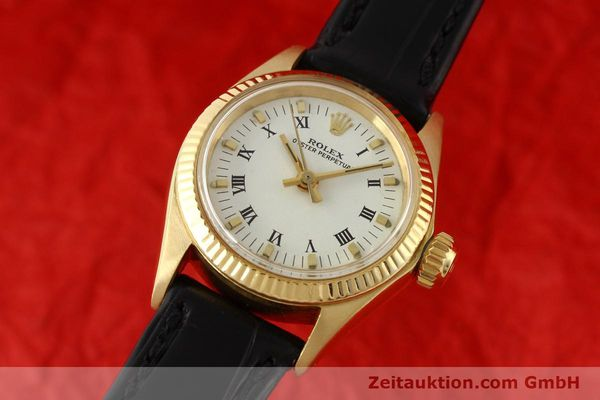 Used luxury watch Rolex Oyster Perpetual 18 ct gold automatic Kal. 1161 Ref. 6619  | 141270 04