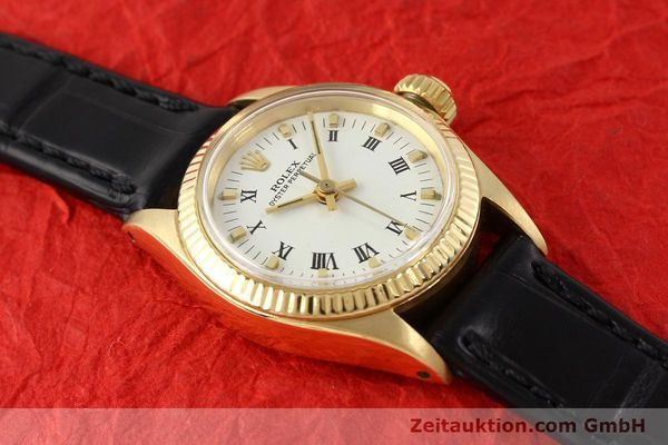 Used luxury watch Rolex Oyster Perpetual 18 ct gold automatic Kal. 1161 Ref. 6619  | 141270 13