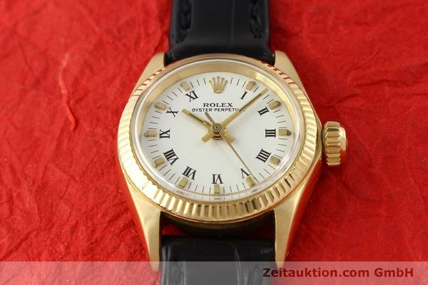 Used luxury watch Rolex Oyster Perpetual 18 ct gold automatic Kal. 1161 Ref. 6619  | 141270 14
