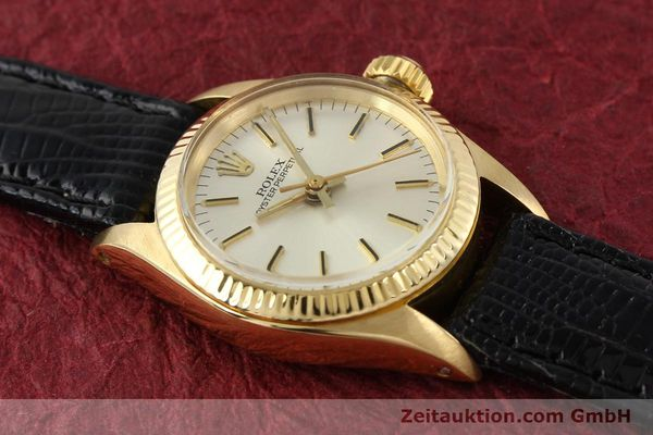 Used luxury watch Rolex Oyster Perpetual 18 ct gold automatic Kal. 2030 Ref. 6719  | 141271 14