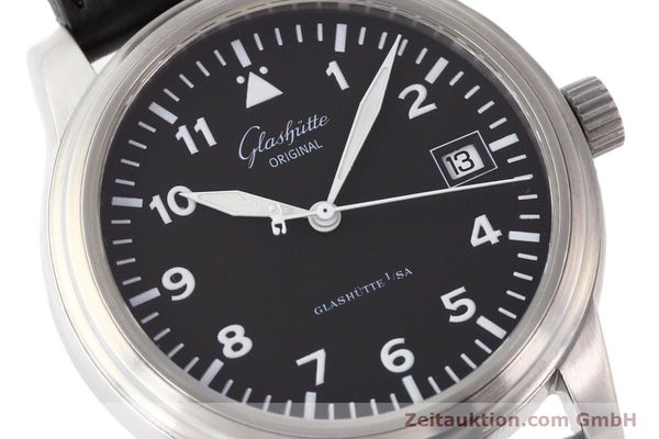 Used luxury watch Glashütte Navigator steel automatic Kal. 39-10  | 141276 02